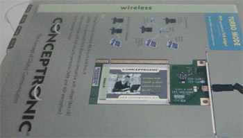 fotografia do artigo Placa de rede PCI Wireless G Conceptronic Tipo L