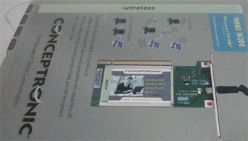 fotografia do artigo Placa de rede PCI Wireless G Conceptronic Tipo L