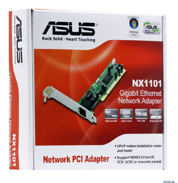 fotografia do artigo Placa de rede Gigabit PCI ASUS NX1101