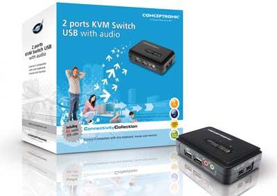 KVM Switch USB Conceptronic com 2 portas em saldo, rebaixa total!!!