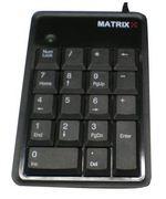 Teclado Numérico USB Matrixx preto em saldo, rebaixa total!!!