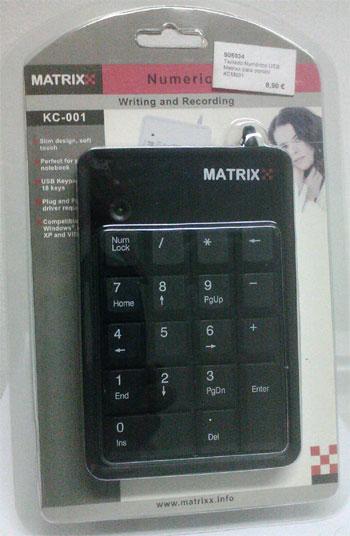 fotografia do artigo Teclado Numérico USB Matrixx preto