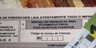 Código do serviço de finanças do seu domicílio fiscal