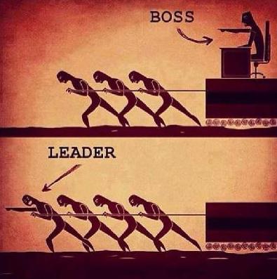 A diferença entre um chefe e o verdadeiro líder.