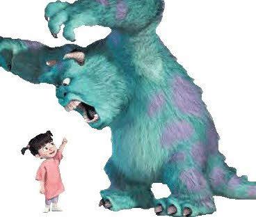 não se assuste com o monstro porque ele não existe