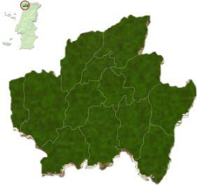 Localização do distrito de Braga no mapa de Portugal