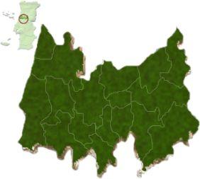 mapa do distrito de Coimbra