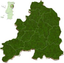 Distrito da Guarda - Localização do distrito da Guarda no mapa de Portugal