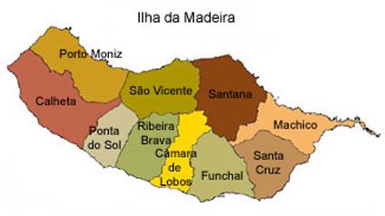 mapa do Ilha da Madeira