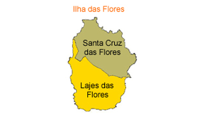 mapa do Ilha das Flores