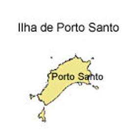 mapa do Ilha de Porto Santo