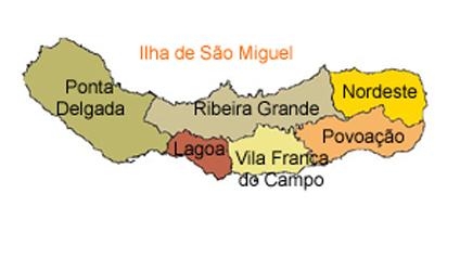 mapa do Ilha de São Miguel
