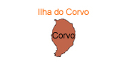 mapa do Ilha do Corvo