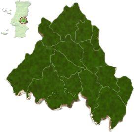 mapa do distrito de Portalegre