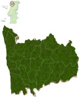 Distrito do Porto - Localização do distrito do Porto no mapa de Portugal