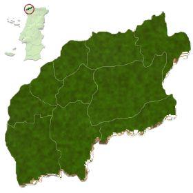mapa do distrito de Viana do Castelo