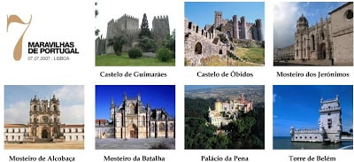 As 7 maravilhas de Portugal detalhes