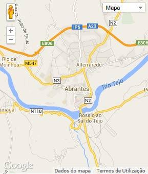 Mapa do município de Abrantes