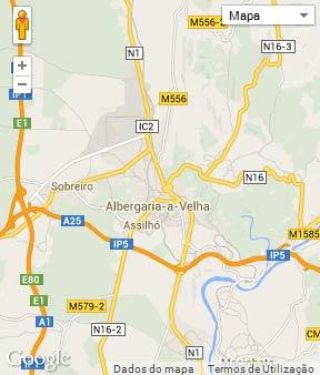 Mapa do município de Albergaria-a-Velha