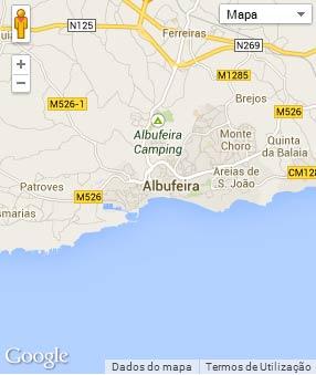Mapa do município de Albufeira