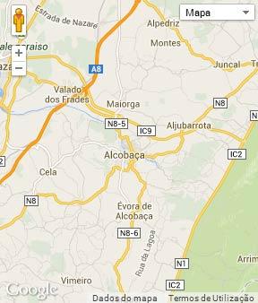 Mapa do município de Alcobaça