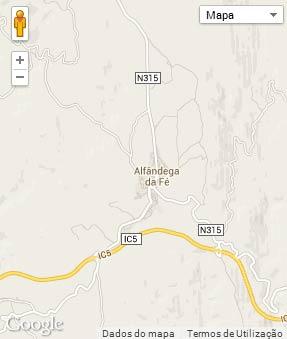 Mapa do município de Alfandega da Fé