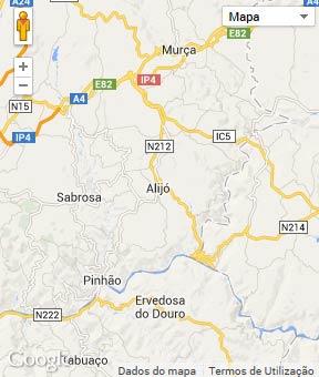 Mapa do município de Alijó