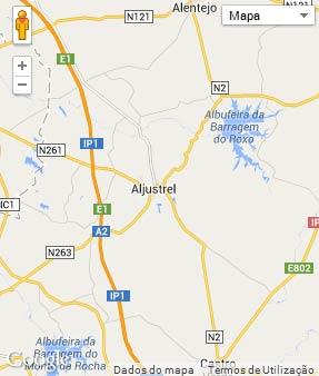 Mapa do município de Aljustrel