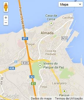 Mapa do município de Almada