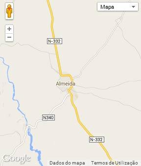 Mapa do município de Almeida