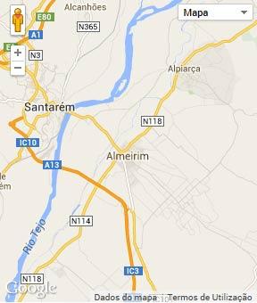 Mapa do município de Almeirim