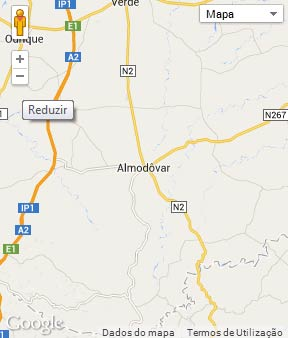 Mapa do município de Almodôvar