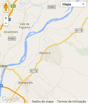 Mapa do município de Alpiarça