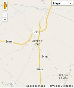 Mapa do município de Alter do Chão