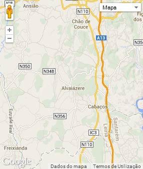 Mapa do município de Alvaiázere