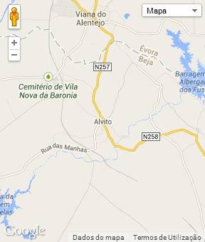 Mapa do município de Alvito