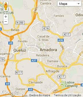 Mapa do município de Amadora