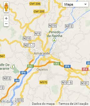 Mapa do município de Amarante