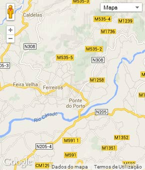 Mapa do município de Amares