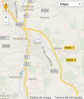 Mapa do município de Anadia