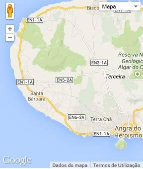 Mapa do município de Angra do Heroísmo