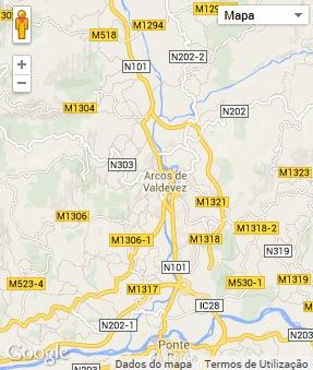 Mapa do município de Arcos de Valdevez