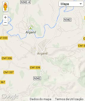 Mapa do município de Arganil