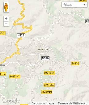 Mapa do município de Arouca