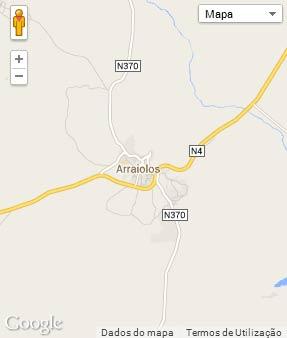 Mapa do município de Arraiolos