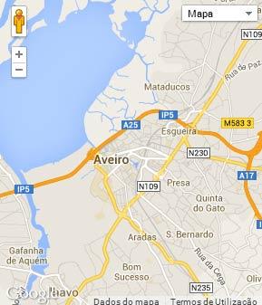 Mapa do município de Aveiro