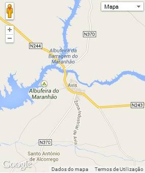 Mapa do município de Avis