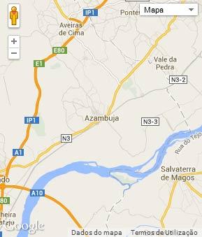 Mapa do município de Azambuja