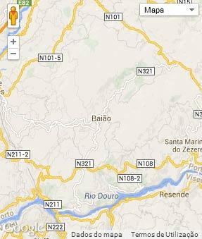 Mapa do município de Baião