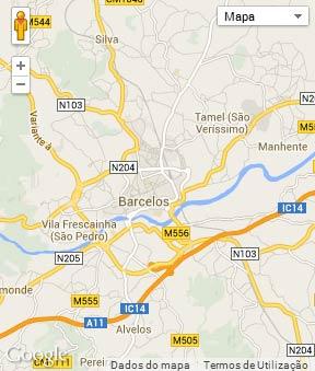 Mapa do município de Barcelos